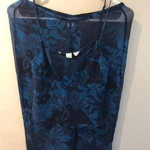 VS 100% Silk 2 Piece Set Pajama Beach Sheer Set XS